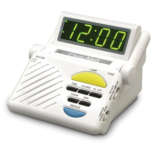 Sonic Alert  SB1000 Sonic Boom Loud Vibrating Alarm Clock with Built In Receiver