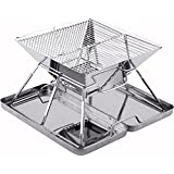 Caesar Hardware Folding Steel Portable Charcoal BBQ Grill, Small