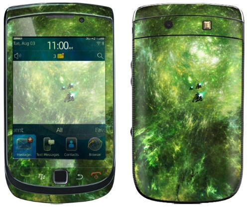 Exo-Flex Protective Skin For Blackberry Torch 9800 - Space Relay - Retail Packaging - Green