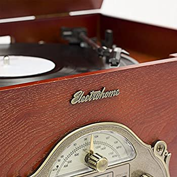 Electrohome EANOS501 Winston Vinyl Turntable 3-in-1 Wooden Stereo System