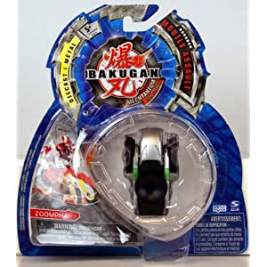 Bakugan - Mechtanium Surge - Mobile Assault - BLACK ZOOMPHA - includes 1 Bakugan Mobile Assault, 1 Ability Card and 1 Metal Gate Card - MOC