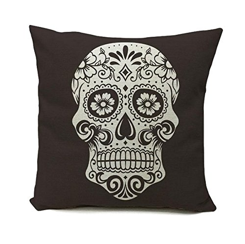 Day of the dead, giorno dei morti, Mexico, Fiesta Skull cuscino, Mexican Sugar, daunitas, de los muertos Día