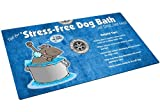 Drymate Dog Bath Mat for Kitchen/Utility Sink with Stress-Free Design, 16-Inch by 28-Inch, Blue