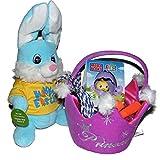 Princess Crown Plush Easter Basket with Jump Rope, Musical Dancing Plush Bunny & More