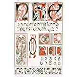 Design for an Art Nouveau Alphabet, by Alphonse Mucha (V&A Custom Print)