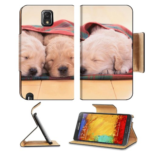 Puppies Dogs Sleeping Pets Animal Blanket Samsung Galaxy Note 3 N9000 Flip Case Stand Magnetic Cover Open Ports Customized Made To Order Support Ready Premium Deluxe Pu Leather 5 15/16 Inch (150Mm) X 3 1/2 Inch (89Mm) X 9/16 Inch (14Mm) Liil Note Cover Pr front-619119
