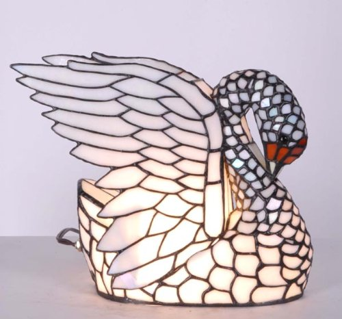Large Tiffany Swan Lamp