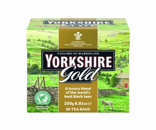 Taylors of Harrogate, Yorkshire Gold Tea, 80-Count Tea Bags (Pack of 5)