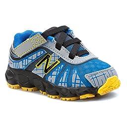 New Balance KV890 Infant Hook and Loop Running Shoe (Infant/Toddler),Blue/Black,2 M US Infant