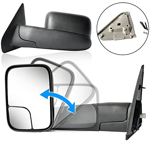 ECCPP Passenger & Driver Side View Tow Mirrors for 2002-08 Dodge Ram 1500 2500 Pickup Power Heated Towing Side Mirrors Pair Set (Mirror For Dodge Ram 2500 compare prices)