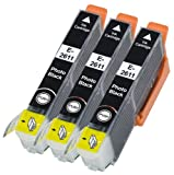Odyssey Supplies® - Compatible Ink Cartridges for Epson printers XP-600, XP-605, XP-700, XP-800, XP600, XP605, XP700, XP800, Printers, 26xl - (3 x T2631 photo black)