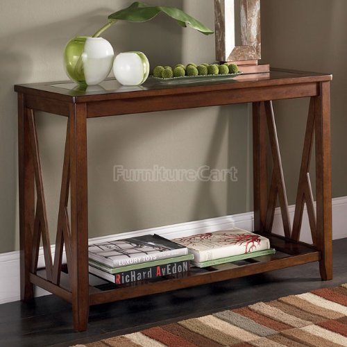 Cheap Contemporary Brown Sofa Console Table (T567-4)