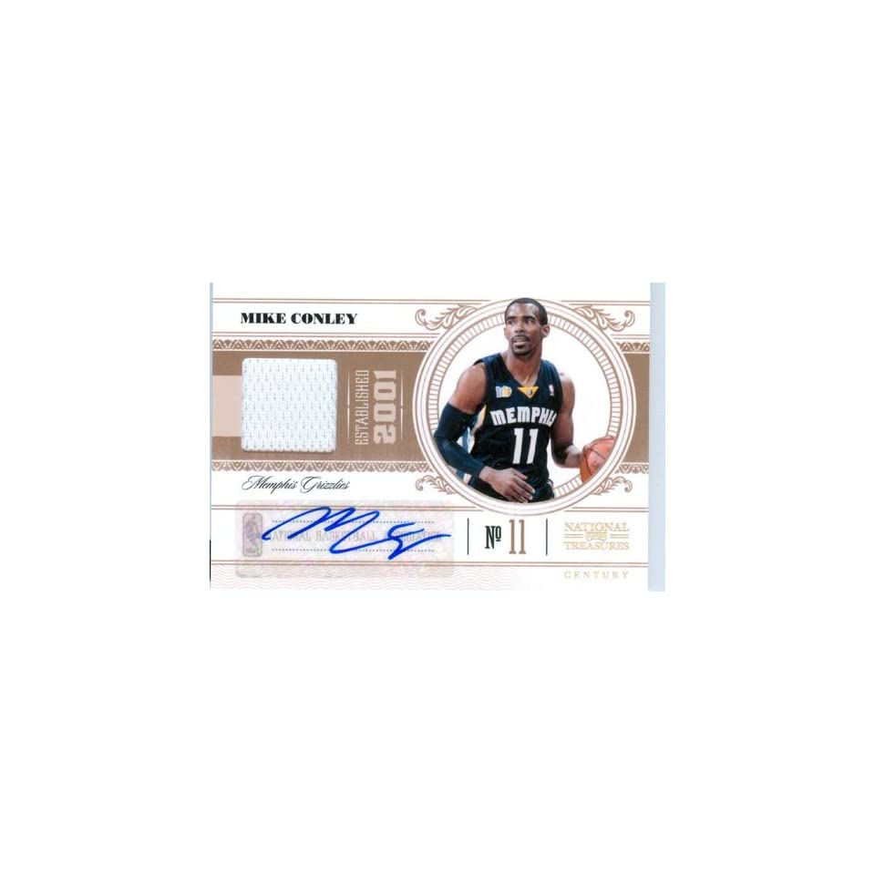 2011 Playoff National Treasures Authentic Mike Conley Autograph Game Worn Jersey Card
