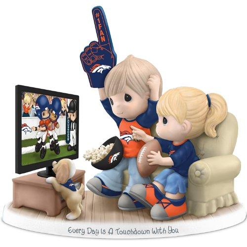 Nfl-Licensed Denver Broncos Fan Precious Moments Porcelain Figurine - By The Hamilton Collection front-1036709