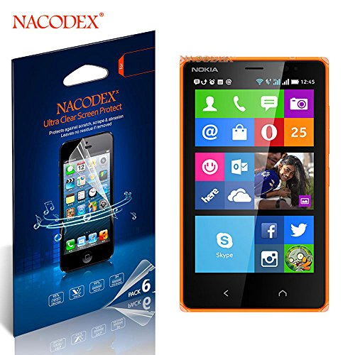 Nacodex® 6X Hd Clear Screen Protector Cover Film For Nokia X2 Dual Sim /(Nokia X2 Rm-1013, Nokia X2Ds) Lcd Cover Guard Shield [ 100% High Quality In New Box ] [ 6Pcs Screen Protectors + 2X Cleaning Cloth + 1X Smoothing Card] [ W/Tracking No.]