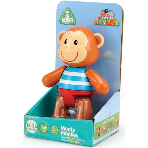 Early Learning Centre Toybox Monty Monkey Baby Toy - Auditory and Tactile Interaction For Children -Engages and Employs Creativity - For On-The-Go or At-Home Play - Ages 12 Months and Up