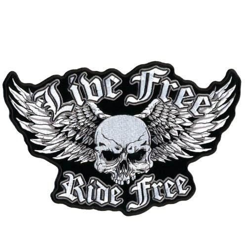 Hot Leathers Live Free Ride Free Wingmaster Patch (11