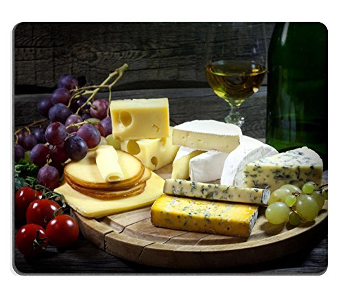 Liili Mouse Pad Natural Rubber Mousepad IMAGE ID: 16486837 Cheese wine and grapes various assortment vintage still life (Cheese Delicatessen compare prices)