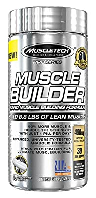MuscleTech Pro Series Muscle Builder, Rapid Muscle Building Formula, 30-Day Supply, 30 Rapid-Release Capsules ...