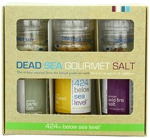 Salt 424 Three Grinder Pack 100% Organic Salts, Garlic, Smoked and Wild Fire, 25.11 Ounce