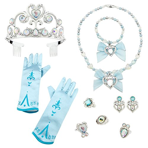 Disney Store Exclusive Elsa Costume 10 Piece Accessory Set - Frozen