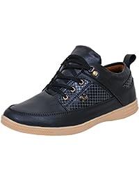 AXONZA Men's Black Casual Shoes(ax200)