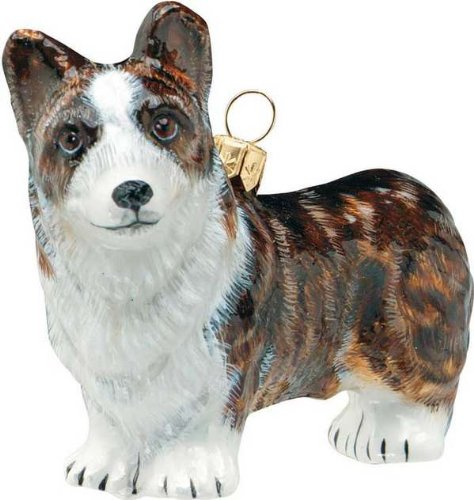 The Pet Set Blown Glass European Dog Ornament by Joy to the World Collectibles – Cardigan Welsh Corgi Dog