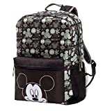 Disney Mickey Mouse Diaper Bag Backpack, Black, Sage