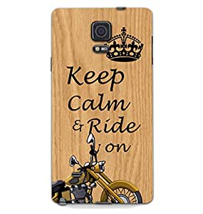 MiiCreations 3D Printed Back Cover for Samsung Galaxy Note 4,Keep Calm & Ride On Bullet