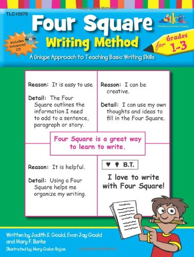 Four Square: Writing Method Grades 1-3 W/Enhanced CD: A Unique Approach to Teaching Basic Writing Skills
