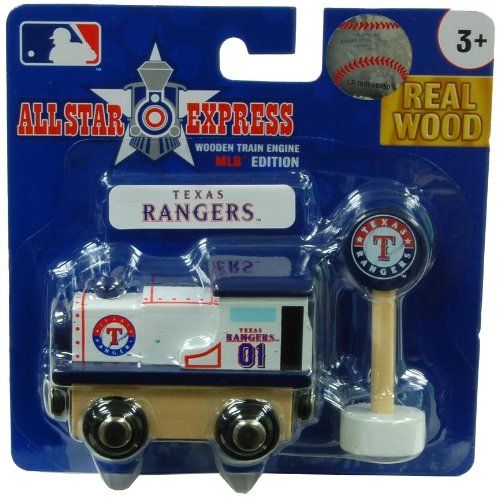 MLB Texas Rangers Wood Train - Engine at Amazon.com