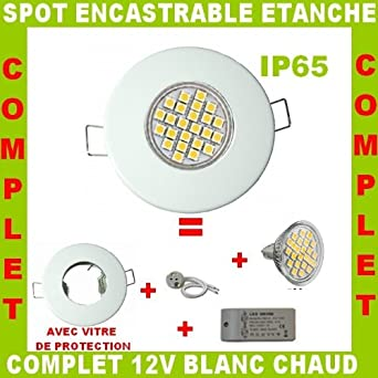 Lumiledeco spot encastrable led etanche blanc gu5 3 mr16 for Spot led etanche salle de bain