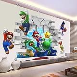 Super Mario 3d Kids Nursery Removable Wall Decal Vinyl Stickers Art Home Decor