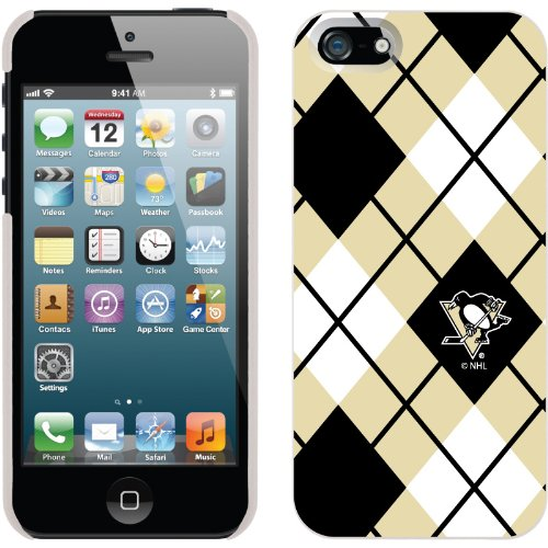 Special Sale Pittsburgh Penguins« - Argyle design on a White iPhone 5s / 5 Thinshield Snap-On Case by Coveroo