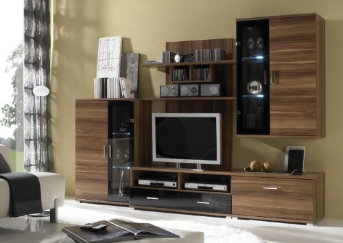 wohnzimmer anbauwand liberis. Black Bedroom Furniture Sets. Home Design Ideas