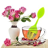 Tea Infuser, CCLV 4-Pack Silicone Tea Infuser Handle Stainless Steel Strainer Filter with Drip Tray