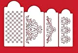 Princess Lace Cake Cupcake Stencils Flexible Plastic Craft Stencils 4 Piece Set