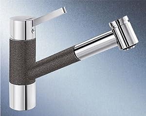 BLANCOTIVO-S robinet mitigeur, basse pression, SILGRANIT® anthracite/chrome - 518425