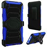 HR Wireless Cell Phone Case for Alcatel Onetouch Idol 3 5.- Retail Packaging - Black/Blue
