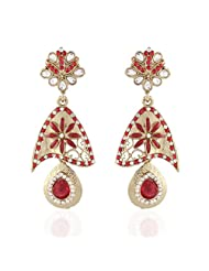 I Jewels Tradtional Gold Plated Elegantly Handcrafted Pair Of Fashion Earrings For Women. - B00N7IPZO8