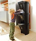1 x Stacking Recycle Bin - Black