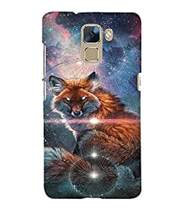 EPICCASE Abstract Wolf Mobile Back Case Cover For Huawei Honor 7 (Designer Case)