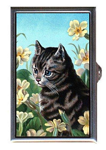 Kitten Cat Tabby, Victorian Art in Flowers Decorative Pill Box (Kitten Appliance compare prices)