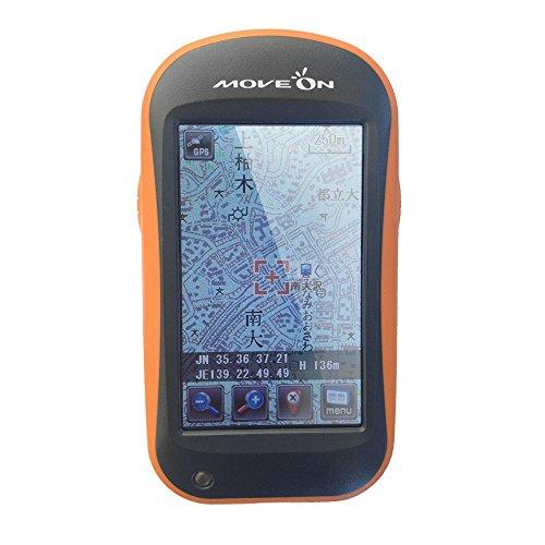 MOVEON GPSナビゲーション 本格登山用 ナビ 高感度GPS内蔵 みちびき対応 ヤマナビ2.5 縦型3.0インチモニタ 【東日本版】 NVG-M2.5
