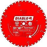 Freud Freud D1040W Diablo 10-1/4-Inch 40 Tooth ATB General Purpose Saw Blade with 5...