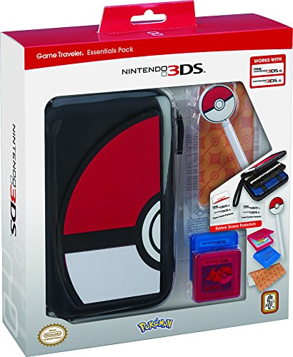 Rds industries nintendo 3ds game traveler essentials pack for Housse 3ds xl pokemon