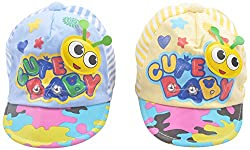 Kandyfloss Babies Caps - Pack of 2 Caps (MRHKFCAPS23, Multi-Colored, 3-6 Months)