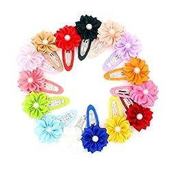 10Pc Baby Children Hair Accessories Flower Hair Clip