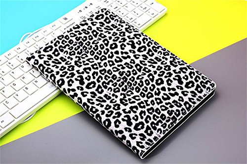 Borch Fashion Luxury Multi-Function Leopard Grain Protective Light-Weight Folding Flip Smart Case Cover For Ipad Air (White)