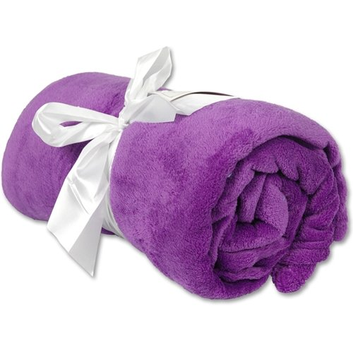 Best Price! Super Soft Plush Fleece Blankets - By Threadart - Purple - 9 colors available